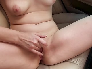 Driver and his ride sharing client have hot car sex
