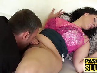 Crazy Anastasia Lux getting her cootchie tongued and frigged