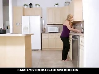 FamilyStrokes - Warm Step-Sister Together with Old woman Tricked Together with Romped By StepBro