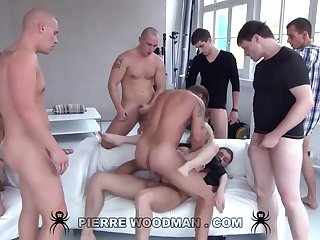 Youthfull Russian Wanton Gets Group-Fucked By Eight Loose Pervs